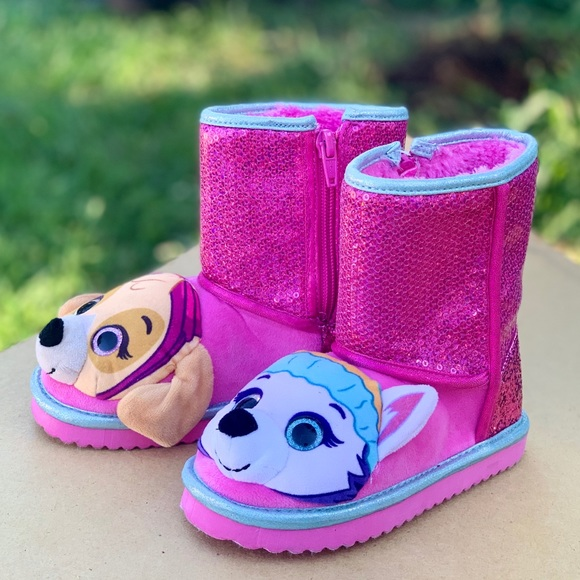 Other - Paw Patrol Toddler Girls Pink Sequin Boots New